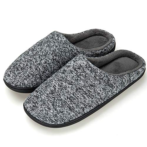 Men's Memory Foam House Slippers Soft Sole Anti-Slip Slippers Indoor Shoes ELMT003-M2-L