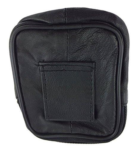 NB24 Elegante Handy- bzw. Gürteltasche (a 6609) Leder Nappa Lamm in schwarz Größe: ca. 12,5 x 7 x 5 cm