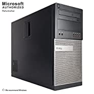 Dell Optiplex 990 Desktop Computer, i7 upto 3.8GHz CPU, 16GB DDR3 Memory, New 512GB SSD, WiFi, Windows 10 Pro (Certified Refurbished)