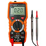 VANTAKOOL Digital Multimeter, PM890D AC DC Mini Auto-Ranging Digital Multimeter with Backlight LCD for Non Contact Voltage Tester, Temperature Measurement and Multi Tester
