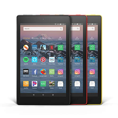Fire HD 8 3-Pack, 16GB - Includes Special Offers (Black/Punch Red/Canary Yellow)