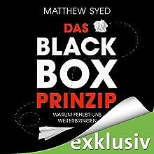 Das Black-Box-Prinzip: Warum Fehler uns weiterbringen Hörbuch von Matthew Syed Gesprochen von: Robert Frank