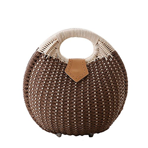 Coffee Clutch Purse Bag Angelliu Straw Girls Handbag Summer Beach Women Party 4xfHBAOqwF