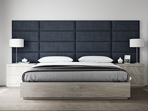Check Out This VANT Upholstered Headboards - Accent Wall Panels - Packs Of 4 - Textured Cotton Weave...