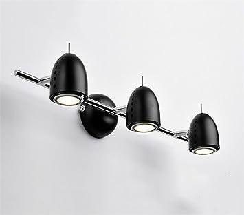 ZHAS Badspiegel lampe Schwarz Spiegel vordere Leuchte/Lampe ...