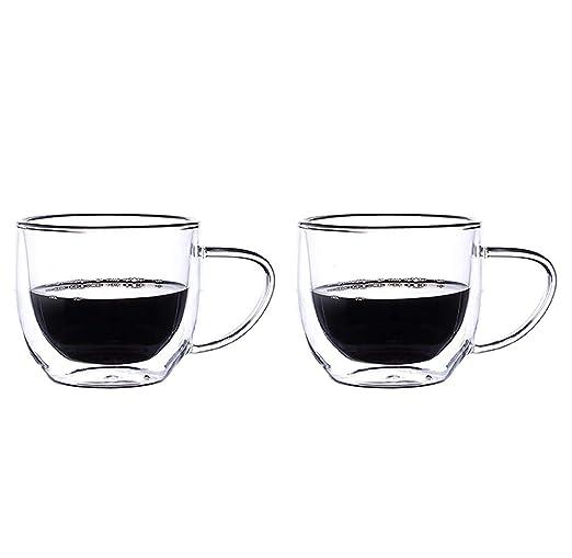 Uioy Doble Aislamiento Taza de café de Vidrio - Vidrio ...
