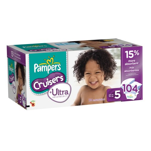 pampers cruisers size 1 - 4