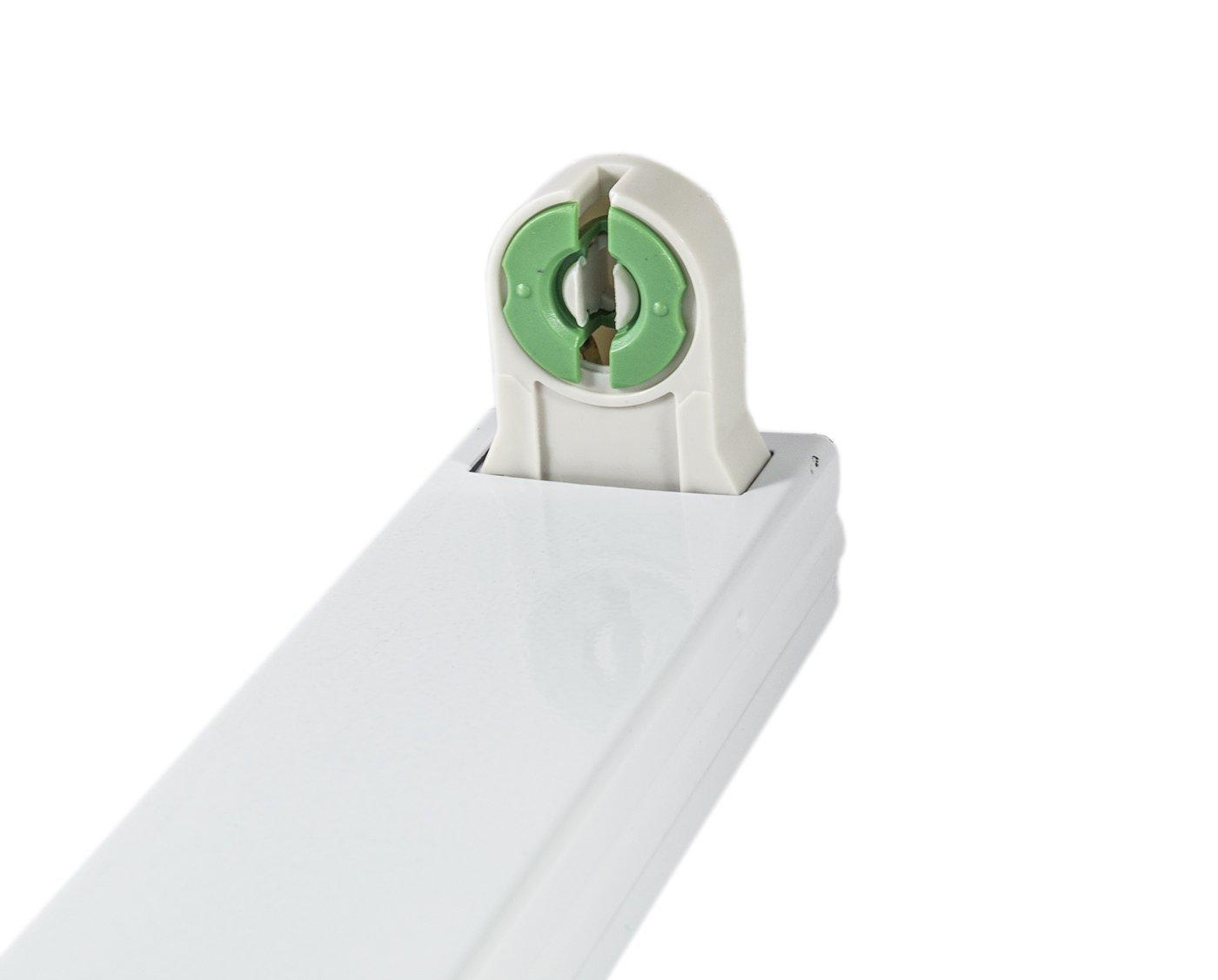 Supporto Porta neon per neon led senza starter ne reattore attacco diretto alla 220 volt diverse misure (120 cm)