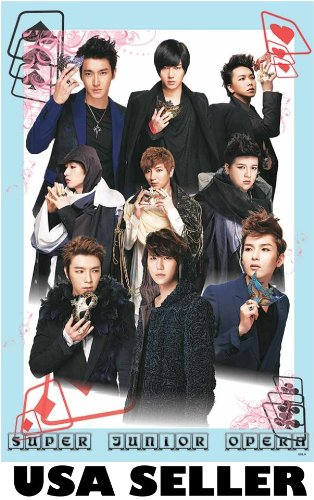 Super Junior Opera vert Poster Superjunior SuJu Korean Kpop boy band Donghae Kyuhyun sent