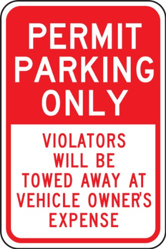 Parking Only Sign Aluminum Top - 5