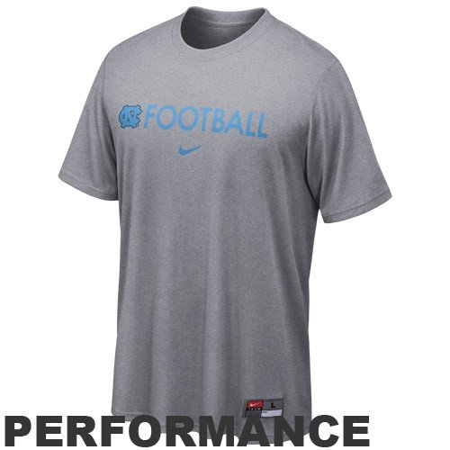 NIKE North Carolina Tar Heels (UNC) Ash Conference Legend Performance T-shirt (XX-Large)