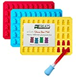 : RL Treats 50 Cavities Silicone Gummy Bear Molds with Dropper (3-Pieces)