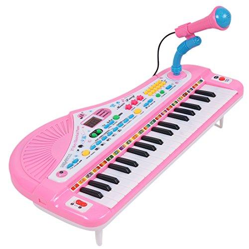 a355144d0f8dc 電子キーボード YIFAN 37キー 電子ピアノ マイク付 音楽玩具 ピアノトイ ミュージカル 子供 教育 実用