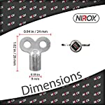 Nirox-5x-Chiavi-per-sfiatare-i-termosifoni-Robuste-chiavi-di-sfiato-in-alluminio-Chiavi-per-riscaldamento-adatte-per-molti-radiatoritermosifoni-Pratica-Sfiato-per-radiatori