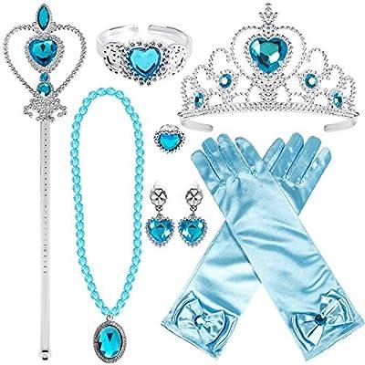 Joinfun Disfraz Princesa Elsa Accesorios de Vestir de Princesa 9 ...