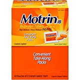 Motrin IB Caplets, Ibuprofen, Aches and Pain Relief, 50 Count, Pack of 2