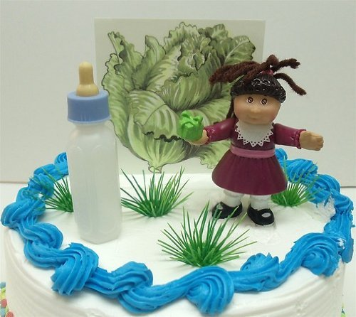 cabbage-patch-kids-birthday-cake-topper-featuring-cabbage-patch-figure-and-decorative-themed-pieces