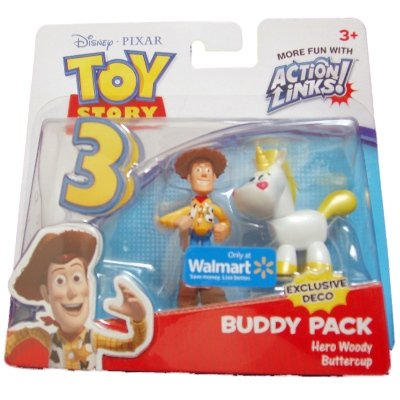 Disney / Pixar Toy Story 3 Exclusive Action Links Mini Figure Buddy 2Pack Hero Woody & Pearl Buttercup by (Toy Story Buttercup)