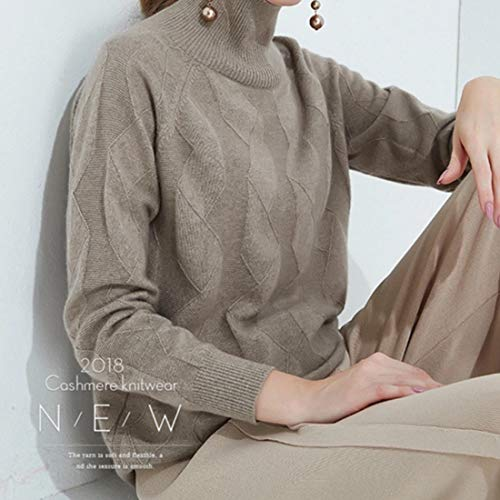 Caldo Collo color Camel Xl Ovesuxle Size E Da Con Donna Maglia Alto Beige 7IP70