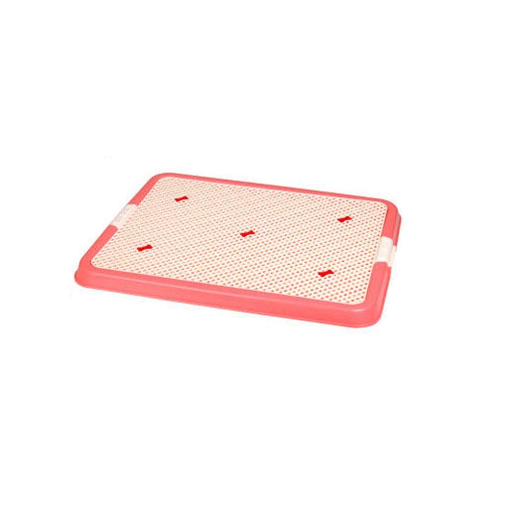 ZHIYINGTIANXIA Pet Wall Supplies,Male Dog with Wall Potty Flat Grid Dog Urinal,Young Dog Training Supplies Puppy Potty Dog Loo,Large Dog Supplies Supplies (Color : Pink, Size : No Wall)