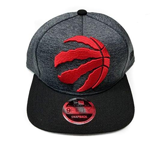 New Era NBA Toronto Raptors Heather Huge Snap 9Fifty Original Fit Cap, One Size, Graphite