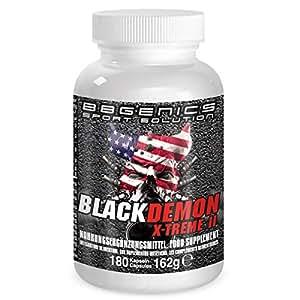BBGenics, BlackDemon X-Treme II, T-Booster, maca de calidad, arginina, Tribulus, zinc, hierro, cromo, vitamina B2, B6, C, 180 cápsulas