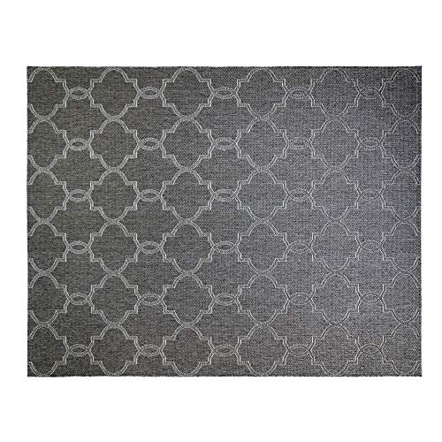 Gertmenian 21605 Seneca Outdoor Rug Patio Area Carpet, 9' x 13' X Large, Clover Dark Gray