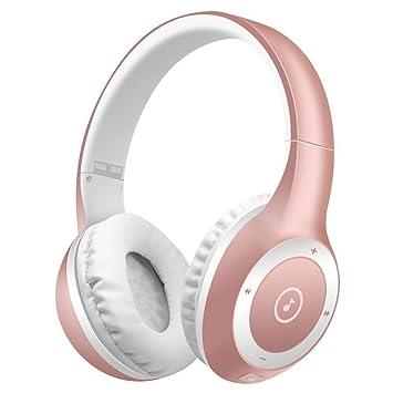 SUAVER Auriculares Inalámbricos, Bluetooth Auriculares estéreo Música Plegable Headset con Mic Manos Libres,para el iPhone/Android,Tarjeta del TF de la ...