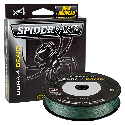 Spiderwire DURA-4 Braided Fishing Line, 200 yd, 30 lb, Moss (Best Spiderwire Monofilament Lines)