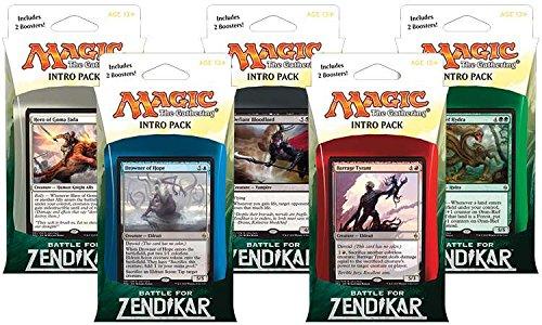 Promo Card 5 Set (Magic the Gathering: MTG Battle for Zendikar: Combo Intro Pack / Theme Deck (Set of All 5 Intro Packs / Decks including Alternate Art Promo Cards))