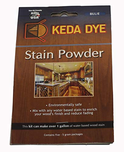 Blue Dye Keda Royal Blue Powder Wood Dye 25 Grams Makes 1 Gallon Blue Stain ()