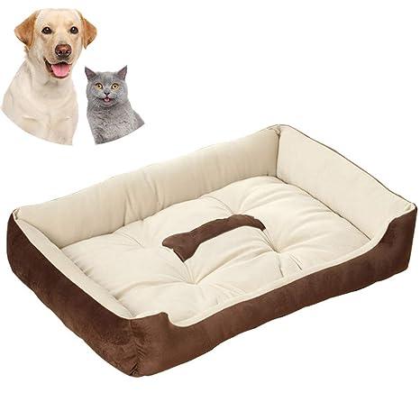 Cama para Perros, Perro Gato 60 * 45 cm Mascota Colchón Lavable Almohada Cojín Suave