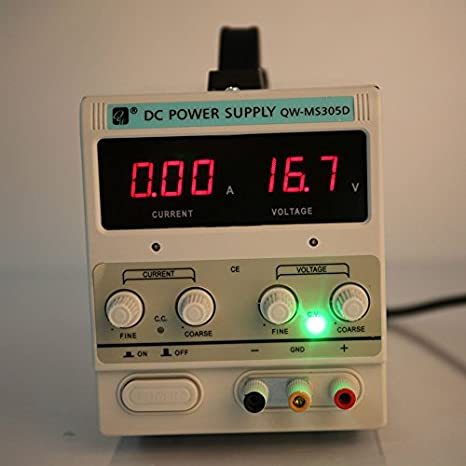 Regulated Adjustable Lab Kit with Alligator Leads US Power Cord QW-MS305D Variable Linear DC Power Supply 0-30V 0-5A