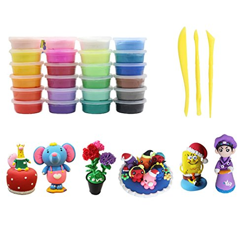 lors Ultra Light Modeling Clay, Magic Clay DIY Creative Modeling Dough with Fruits Modes and Modeling Clay Tools (Dough Super Soft Modeling Clay)
