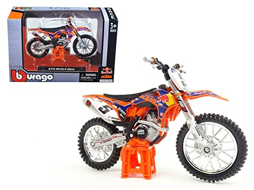 KTM 450 SX-F #5 Ryan Dungey Red Bull 1/18 Motorcycle by Bburago 51072