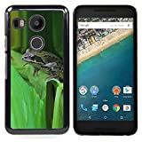 Pulsar Snap-on Series Plastic Back Case Shell Skin Cover for LG GOOGLE NEXUS 5X H790 , Green Toad Forest Leaf Tropical