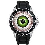 BMSC1369 Evil Eye Ball Mens Ladies Unisex Black Jelly Silicone Strap Wrist Watch