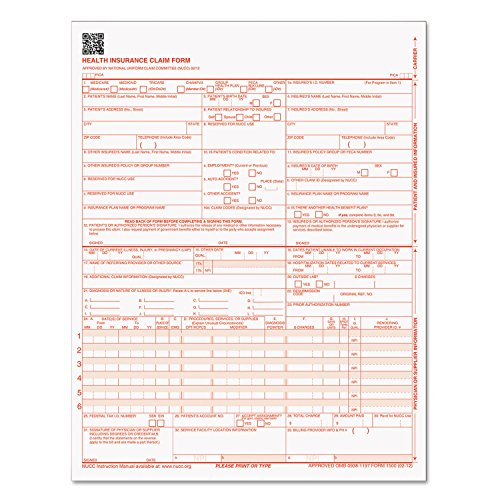 TOP50135R - CMS-1500 Claim Forms, 250 Pack by Tops (Image #1)