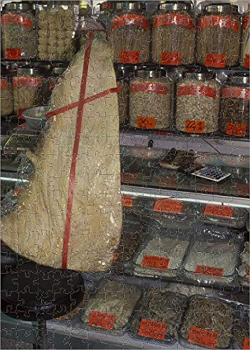 252 Piece Puzzle of Dried Marine specimens in Chinese Medicine Store ()