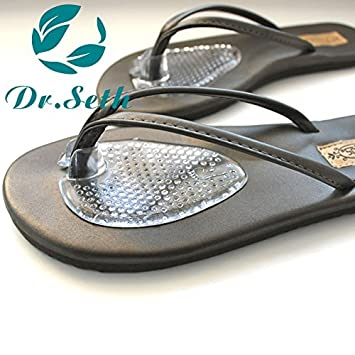 2bdbd31d0 Image Unavailable. Image not available for. Color  Dr.Seth Silicone Gel  Thong Sandal Spreader -Flip-Flop Gel Toe Guards Cushions