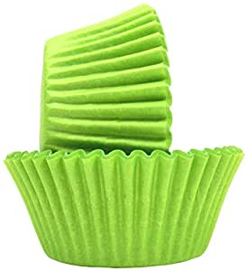 Regency Wraps 40-Count Greaseproof Baking Cups, Standard, Lime Green