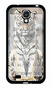 Deuteronomy 31:6 Bible Verse Plastic Phone Case Back Cover Samsung Galaxy S4 I9500 by Maris's Diary