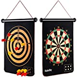 Rabosky Magnetic Dart Board for Kids, 12pcs Magnetic Darts, Best Gifts for Family and 5 6 7 8 9 Year Old Boys - Hottest Toys for Christmas 2019