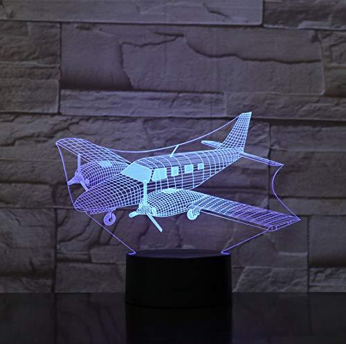 Air Craft Flugzeug Spielzeug 3D Nachtlampe mit Touch LED Licht Weihnachtsgeschenke Kinder Hobbies