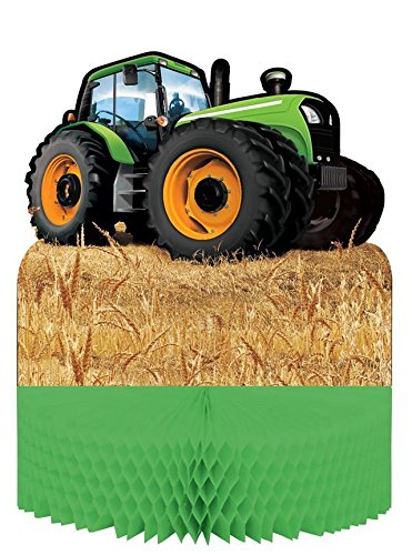 Creative Party Tractor Time Honeycomb Party Table Centrepiece