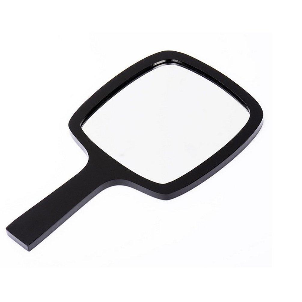 HEHGU Hand Held Makeup Mirror Rectangular Portable Lightweight Pocket Size Mirrors (Black)