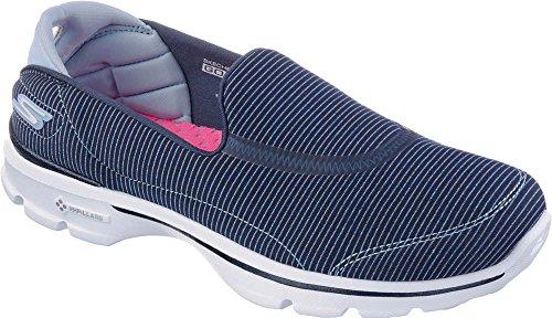 Skechers Womens Gowalk 3 Lokken Slip Op Marine / Lichtblauw Uit