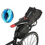 Ideashop Saddle Bag, 100% Waterproof Bike Bicycle Saddle Bag, 10L Bike Seat Bag Under Seat Packs Tail Pouch Cycling Bicycle Mountain Road MTB Bicycle Bike Seat Tail Bag (10L)