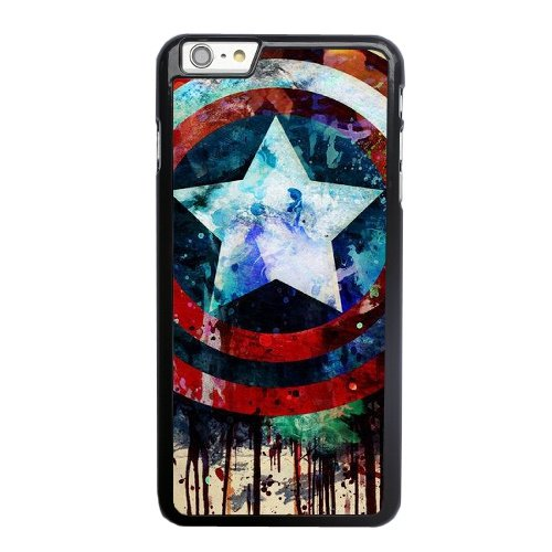 Coque,Apple Coque iphone 6 6S (4.7 pouce) Case Coque, Captain America Shield Painting Phone Case Cover for Apple Coque iphone 6 6S (4.7 pouce) Noir Plastic Ultra Slim Cover Case Cover