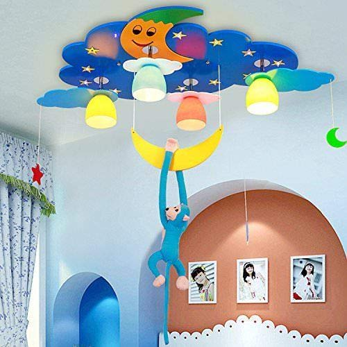FidgetGear Animal Lighting Chandelier Kids Room Ceiling Lamp Children Pendant Light Fixture Pink Rainbow by FidgetGear (Image #2)